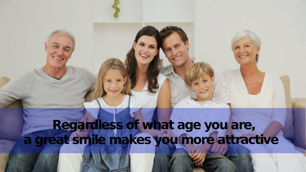 Happy Family with their diamond smile results in brushing teeth correctly